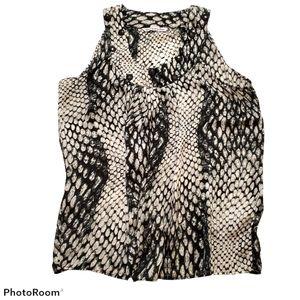 Black snakeskin print sleeveless size xlarge